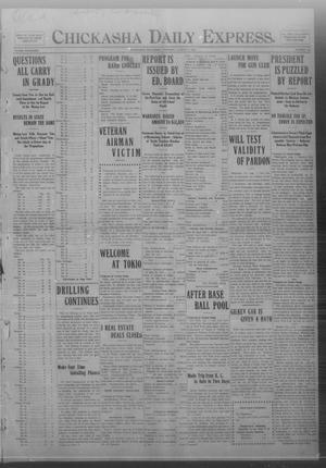 Primary view of object titled 'Chickasha Daily Express. (Chickasha, Okla.), Vol. FOURTEEN, No. 188, Ed. 1 Thursday, August 7, 1913'.