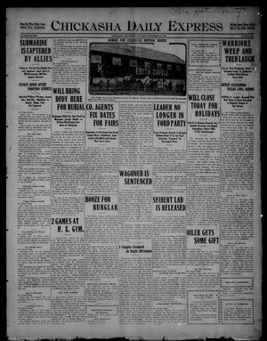 Primary view of object titled 'Chickasha Daily Express (Chickasha, Okla.), Vol. SIXTEEN, No. 333, Ed. 1 Thursday, December 23, 1915'.