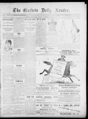 Primary view of object titled 'The Guthrie Daily Leader. (Guthrie, Okla.), Vol. 5, No. 78, Ed. 1, Tuesday, March 5, 1895'.