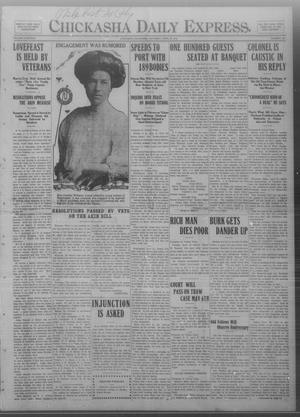 Primary view of object titled 'Chickasha Daily Express. (Chickasha, Okla.), Vol. THIRTEEN, No. 102, Ed. 1 Saturday, April 27, 1912'.