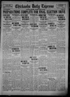 Primary view of object titled 'Chickasha Daily Express (Chickasha, Okla.), Vol. 23, No. 164, Ed. 1 Thursday, October 26, 1922'.