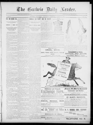 Primary view of object titled 'The Guthrie Daily Leader. (Guthrie, Okla.), Vol. 5, No. 79, Ed. 1, Wednesday, March 6, 1895'.