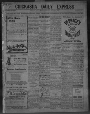 Primary view of object titled 'Chickasha Daily Express (Chickasha, Indian Terr.), Vol. 11, No. 2, Ed. 1 Saturday, January 3, 1903'.