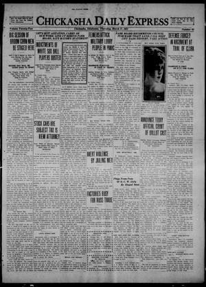 Primary view of object titled 'Chickasha Daily Express (Chickasha, Okla.), Vol. 22, No. 65, Ed. 1 Thursday, March 17, 1921'.