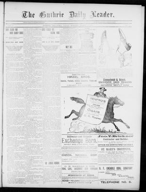 Primary view of object titled 'The Guthrie Daily Leader. (Guthrie, Okla.), Vol. 5, No. 81, Ed. 1, Friday, March 8, 1895'.
