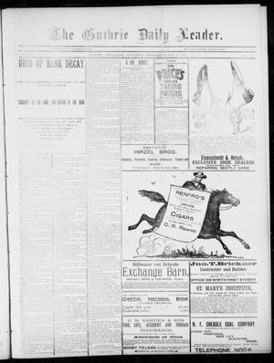 Primary view of object titled 'The Guthrie Daily Leader. (Guthrie, Okla.), Vol. 5, No. 82, Ed. 1, Saturday, March 9, 1895'.