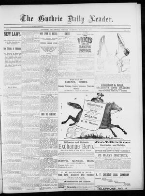 Primary view of object titled 'The Guthrie Daily Leader. (Guthrie, Okla.), Vol. 5, No. 83, Ed. 1, Sunday, March 10, 1895'.