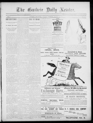 Primary view of object titled 'The Guthrie Daily Leader. (Guthrie, Okla.), Vol. 5, No. 84, Ed. 1, Tuesday, March 12, 1895'.