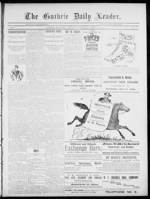Primary view of object titled 'The Guthrie Daily Leader. (Guthrie, Okla.), Vol. 5, No. 85, Ed. 1, Wednesday, March 13, 1895'.