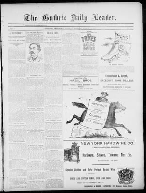 Primary view of object titled 'The Guthrie Daily Leader. (Guthrie, Okla.), Vol. 5, No. 90, Ed. 1, Tuesday, March 19, 1895'.