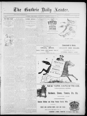 Primary view of object titled 'The Guthrie Daily Leader. (Guthrie, Okla.), Vol. 5, No. 91, Ed. 1, Wednesday, March 20, 1895'.