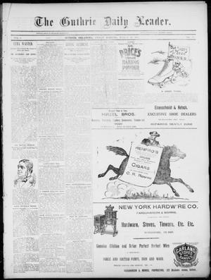 Primary view of object titled 'The Guthrie Daily Leader. (Guthrie, Okla.), Vol. 5, No. 93, Ed. 1, Friday, March 22, 1895'.