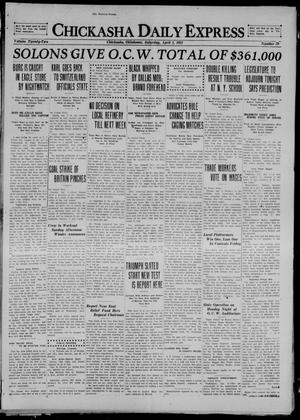 Primary view of object titled 'Chickasha Daily Express (Chickasha, Okla.), Vol. 22, No. 79, Ed. 1 Saturday, April 2, 1921'.