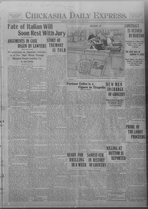 Primary view of object titled 'Chickasha Daily Express. (Chickasha, Okla.), Vol. FOURTEEN, No. 160, Ed. 1 Saturday, July 5, 1913'.