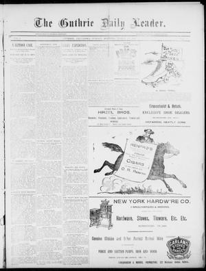 Primary view of object titled 'The Guthrie Daily Leader. (Guthrie, Okla.), Vol. 5, No. 95, Ed. 1, Sunday, March 24, 1895'.