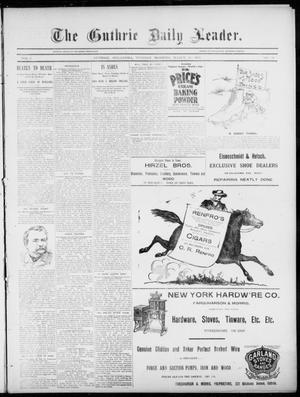 Primary view of object titled 'The Guthrie Daily Leader. (Guthrie, Okla.), Vol. 5, No. 96, Ed. 1, Tuesday, March 26, 1895'.