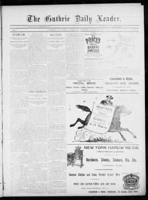 Primary view of object titled 'The Guthrie Daily Leader. (Guthrie, Okla.), Vol. 5, No. 97, Ed. 1, Wednesday, March 27, 1895'.