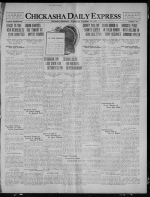Primary view of object titled 'Chickasha Daily Express (Chickasha, Okla.), Vol. 21, No. 281, Ed. 1 Wednesday, November 24, 1920'.