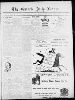 Primary view of object titled 'The Guthrie Daily Leader. (Guthrie, Okla.), Vol. 5, No. 98, Ed. 1, Thursday, March 28, 1895'.