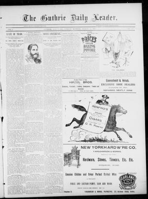 Primary view of object titled 'The Guthrie Daily Leader. (Guthrie, Okla.), Vol. 5, No. 101, Ed. 1, Sunday, March 31, 1895'.