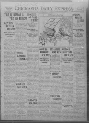 Primary view of object titled 'Chickasha Daily Express. (Chickasha, Okla.), Vol. THIRTEEN, No. 251, Ed. 1 Wednesday, October 23, 1912'.