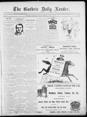 Primary view of object titled 'The Guthrie Daily Leader. (Guthrie, Okla.), Vol. 5, No. 105, Ed. 1, Friday, April 5, 1895'.