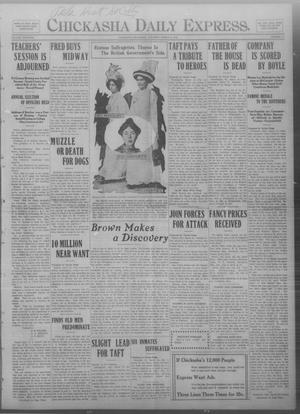 Primary view of object titled 'Chickasha Daily Express. (Chickasha, Okla.), Vol. THIRTEEN, No. 72, Ed. 1 Saturday, March 23, 1912'.