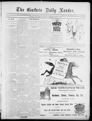 Primary view of object titled 'The Guthrie Daily Leader. (Guthrie, Okla.), Vol. 5, No. 106, Ed. 1, Saturday, April 6, 1895'.