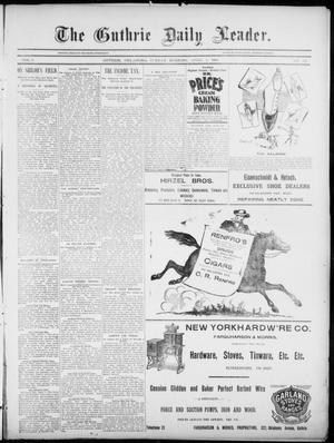 Primary view of object titled 'The Guthrie Daily Leader. (Guthrie, Okla.), Vol. 5, No. 107, Ed. 1, Sunday, April 7, 1895'.