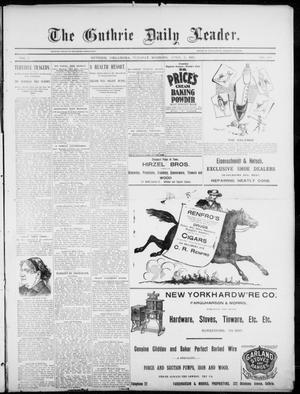 Primary view of object titled 'The Guthrie Daily Leader. (Guthrie, Okla.), Vol. 5, No. 108, Ed. 1, Tuesday, April 9, 1895'.