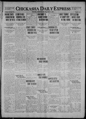 Primary view of object titled 'Chickasha Daily Express (Chickasha, Okla.), Vol. 22, No. 55, Ed. 1 Saturday, March 5, 1921'.