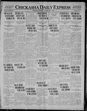 Primary view of object titled 'Chickasha Daily Express (Chickasha, Okla.), Vol. 21, No. 131, Ed. 1 Tuesday, June 1, 1920'.