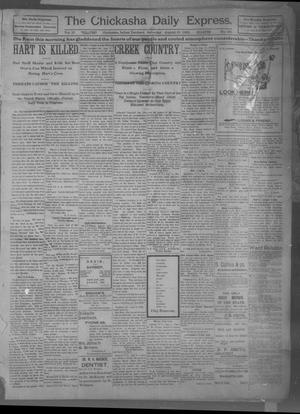 Primary view of object titled 'The Chickasha Daily Express (Chickasha, Indian Terr.), Vol. 10, No. 182, Ed. 1 Saturday, August 10, 1901'.