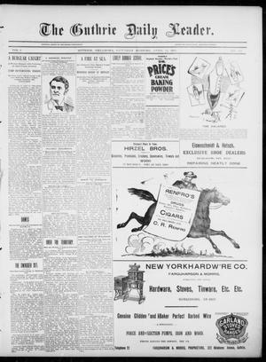 Primary view of object titled 'The Guthrie Daily Leader. (Guthrie, Okla.), Vol. 5, No. 112, Ed. 1, Saturday, April 13, 1895'.