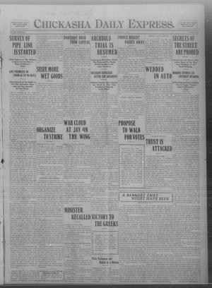 Primary view of object titled 'Chickasha Daily Express. (Chickasha, Okla.), Vol. THIRTEEN, No. 288, Ed. 1 Thursday, December 12, 1912'.