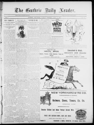 Primary view of object titled 'The Guthrie Daily Leader. (Guthrie, Okla.), Vol. 5, No. 113, Ed. 1, Sunday, April 14, 1895'.