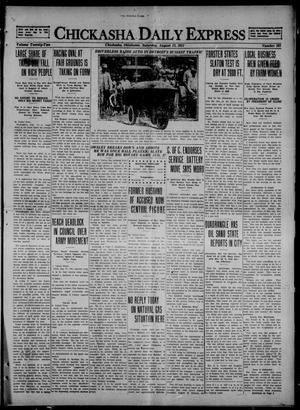 Primary view of object titled 'Chickasha Daily Express (Chickasha, Okla.), Vol. 22, No. 201, Ed. 1 Saturday, August 13, 1921'.