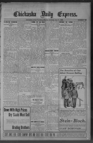 Primary view of object titled 'Chickasha Daily Express. (Chickasha, Indian Terr.), No. 168, Ed. 1 Monday, July 17, 1905'.