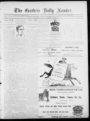 Primary view of object titled 'The Guthrie Daily Leader. (Guthrie, Okla.), Vol. 5, No. 118, Ed. 1, Saturday, April 20, 1895'.