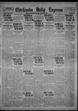 Primary view of object titled 'Chickasha Daily Express (Chickasha, Okla.), Vol. 22, No. 268, Ed. 1 Tuesday, February 28, 1922'.