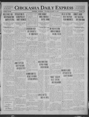 Primary view of object titled 'Chickasha Daily Express (Chickasha, Okla.), Vol. 20, No. 270, Ed. 1 Thursday, November 13, 1919'.