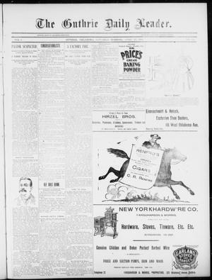 Primary view of object titled 'The Guthrie Daily Leader. (Guthrie, Okla.), Vol. 5, No. 124, Ed. 1, Saturday, April 27, 1895'.