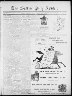Primary view of object titled 'The Guthrie Daily Leader. (Guthrie, Okla.), Vol. 5, No. 125, Ed. 1, Sunday, April 28, 1895'.