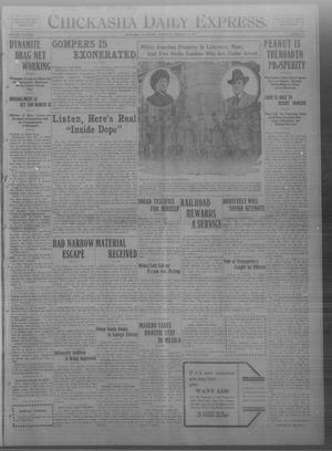 Primary view of object titled 'Chickasha Daily Express. (Chickasha, Okla.), Vol. THIRTEEN, No. 39, Ed. 1 Wednesday, February 14, 1912'.