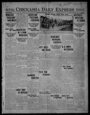 Primary view of object titled 'Chickasha Daily Express (Chickasha, Okla.), Vol. SIXTEEN, No. 263, Ed. 1 Friday, October 1, 1915'.