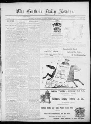 Primary view of object titled 'The Guthrie Daily Leader. (Guthrie, Okla.), Vol. 5, No. 128, Ed. 1, Thursday, May 2, 1895'.