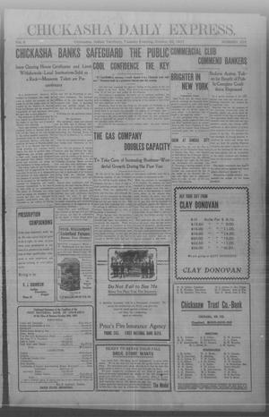 Primary view of object titled 'Chickasha Daily Express. (Chickasha, Indian Terr.), Vol. 8, No. 253, Ed. 1 Tuesday, October 29, 1907'.