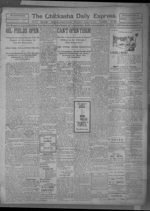 Primary view of object titled 'The Chickasha Daily Express (Chickasha, Indian Terr.), Vol. 10, No. 185, Ed. 1 Wednesday, August 14, 1901'.