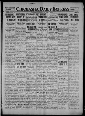 Primary view of object titled 'Chickasha Daily Express (Chickasha, Okla.), Vol. 22, No. 48, Ed. 1 Friday, February 25, 1921'.