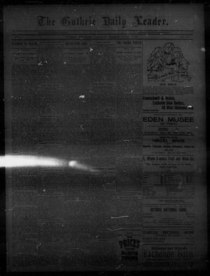 Primary view of object titled 'The Guthrie Daily Leader. (Guthrie, Okla.), Vol. 5, No. 153, Ed. 1, Saturday, June 1, 1895'.